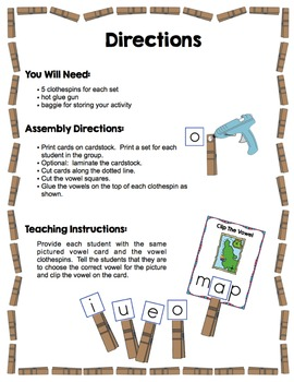 Short Vowels - Clip The Short Vowel