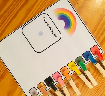 Clip Token Boards and Reinforcer Pictures, Autism ABA