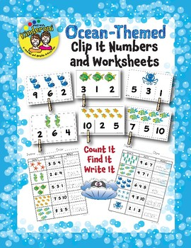 Clip a Number Cards and Worksheets