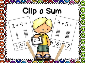 Clip a Sum- all you need are clothespins!