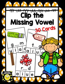 Clip a Vowel Cards