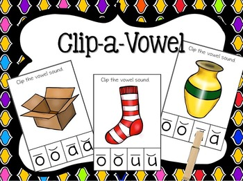 Clip-a-Vowel, all you need are clothespins!