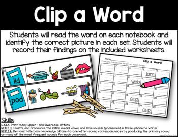 Clip a Word - CVC Identification