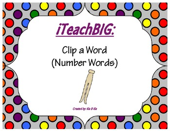 Clip a Word  (Number Words)