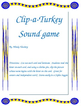 Clip a turkey sound game