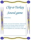 Clip a turkey sound game