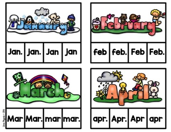 Clip and Check: Monthly Abbreviations