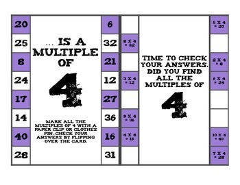 Clip and Check  Multiples of 2 - 9