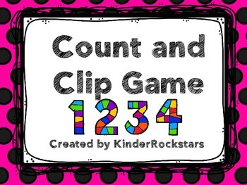 Math Center Clip and Count