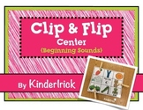Clip and Flip Beginning Sounds Center