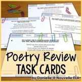 Figurative Language and Poetic Devices Task Cards