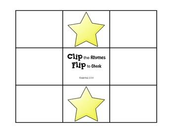 Clip and Flip Rhyming Center