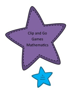 Clip and Go Games for Any subject! Mathematics