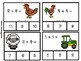 Clip and Match Addition Farm Theme