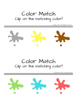 Clip and Match: Colors