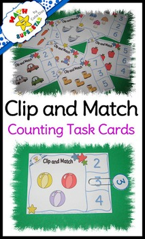 Clip and Match - Counting Task Cards