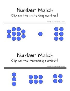 Clip and Match: Numbers 1-10