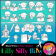 Clip art Back to School. Full B/W & Color Bundle. {Lilly Silly Billy}