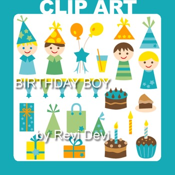 Clip art Birthday Boy