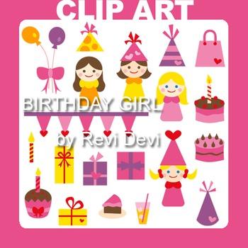 Clip art Birthday Girl