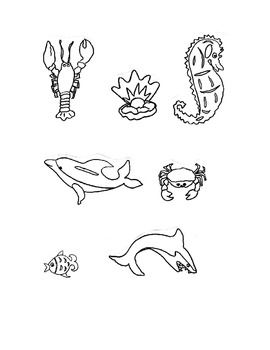 Clip art, Black & White Sea Life, Follow me because some will be FREE