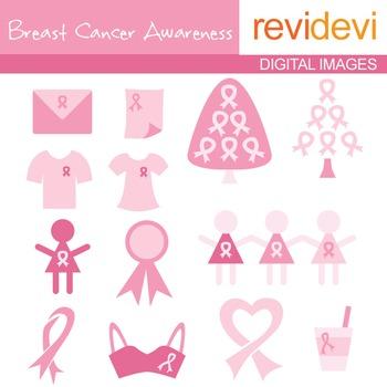 Clip art Breast Cancer Awareness (pink ribbon clipart) 07041