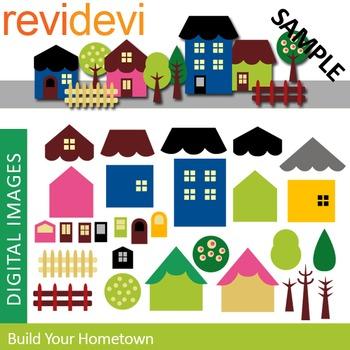 Clip art Build your hometown (DIY house) clipart