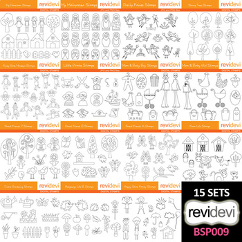 Clip art Bundle Black and White (collection 9) - teacher resource
