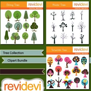 Clip art Bundle Tree Collection (3 packs)
