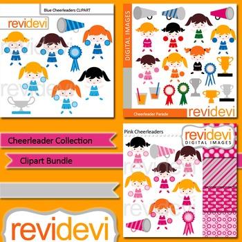 Clip art Cheerleader Collection Bundle (3 packs)