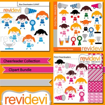 Clip art Cheerleader Collection Bundle (3 packs)