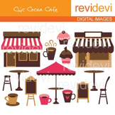 Clip art Chic Cocoa Cafe 07189 (pink, brown, coffee house) clipart