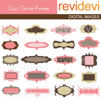 Clip art Chic Cocoa Frame 07212 (pink, brown)
