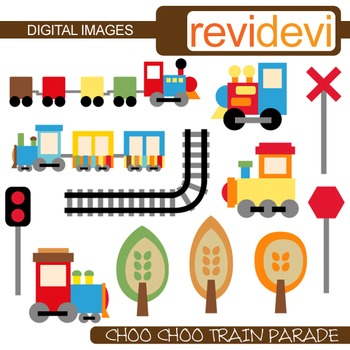 Clip art Choo Choo Train (for personal and commercial use)