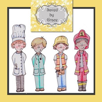 Clip Art Contruction Worker Doctor Chef Fire Fighter Career Day