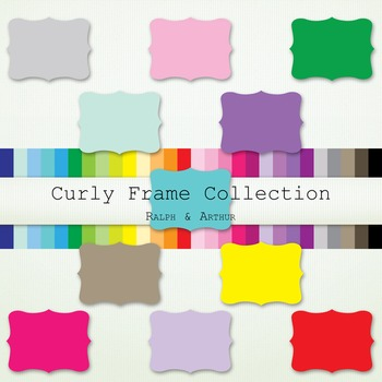 Clip art - Curly Frame Collection