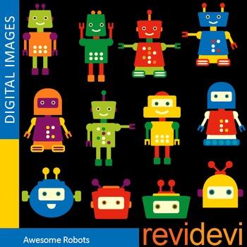 Clip art Cute Robots