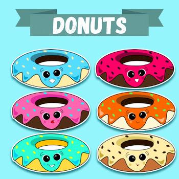 Clip-art doughnuts/donuts