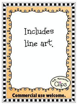 Clip art ~ Doodle-do Frames ( color and line art)
