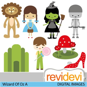 Clip art: Fairytale (Wizard of Oz inspired)
