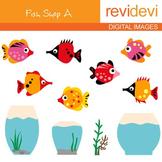 Clip art Fish Shop A 07109 (fish and aquarium clipart)