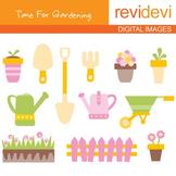Clip art: Gardening (tools, flowers) go green clipart