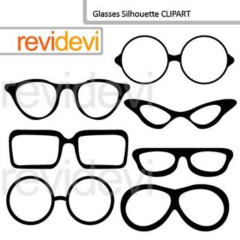 Clip art Glasses Silhouette