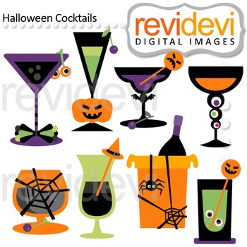 Clip art Halloween Cocktails (drinks) 08125