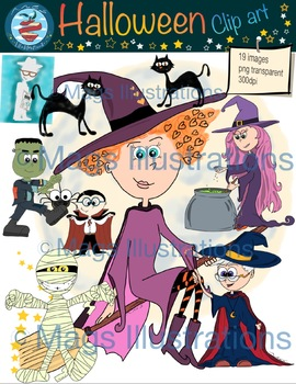 Clip art Halloween, costumes Halloween celebrity fun franki mummy Dracula witch