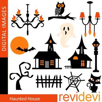 Clip art Haunted house (halloween clipart, chandelier) 08102