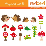 Clip art Hedgehogs Life B (cute graphics for teachers) 07029