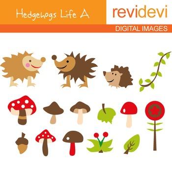 Clip art Hedgehogss Life A