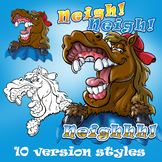 Clip Art pack - Horsey Neigh
