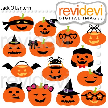 Clip art Jack O Lantern (halloween pumpkins cliparts) teacher resource, 08119